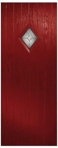 Ruby 1 Diamond Scotia Clear Brass