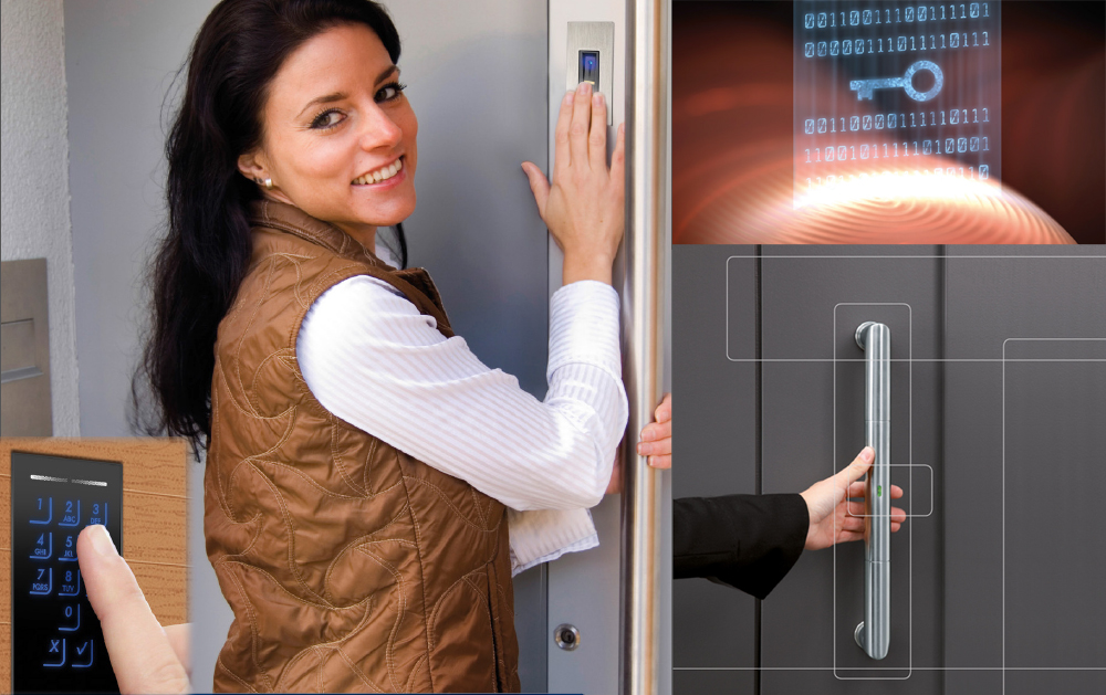 finger print scanner doors